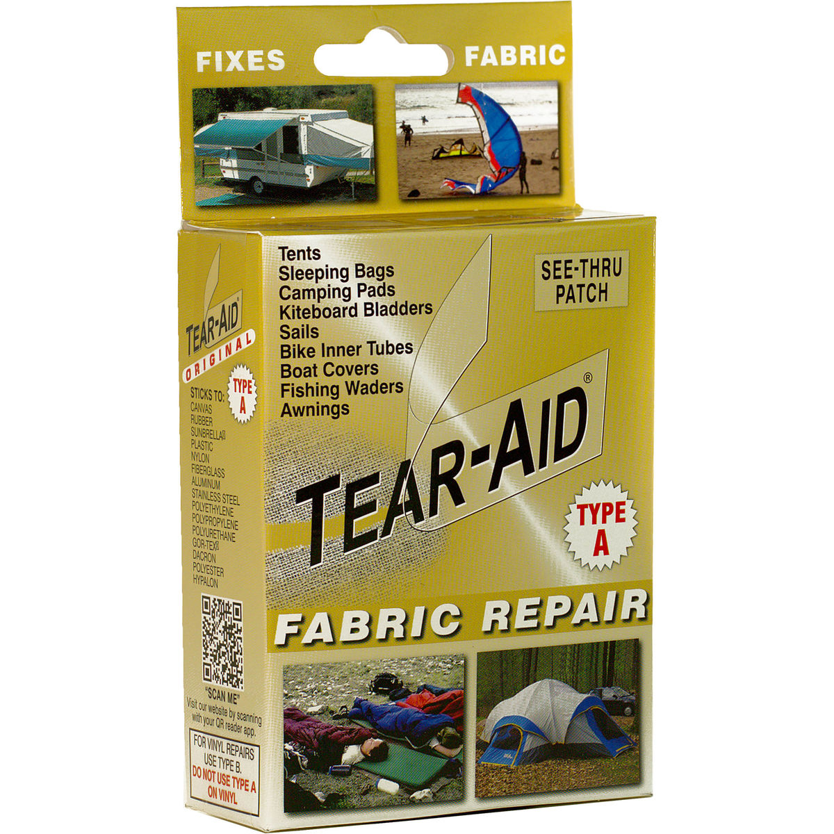 Tear Aid Type A Fabric Repair Budget Camping