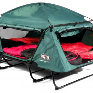 kr03-double-tent-cot-opened-with-bedding