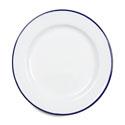 Falcon Enamel Dinner Plate 26cm White Blue Rim_thumb