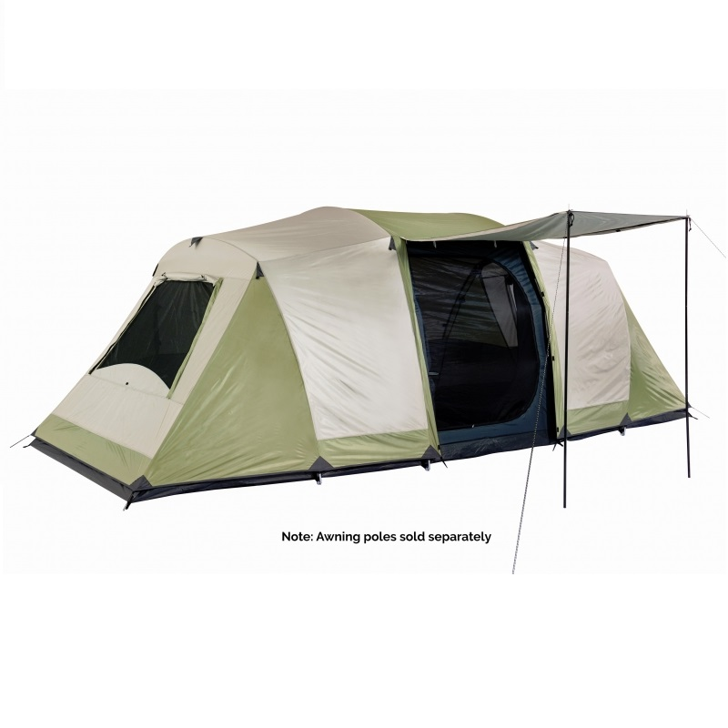 Oztrail Seascape Dome Tent u2013 3 Room 10 Person Tent  sc 1 st  Budget C&ing : three room dome tent - memphite.com