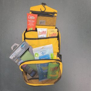 Toiletry bag open