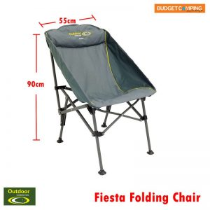 Outdoor Connection Fiesta Folding Chair – Compact Quad Fold 140kg Rated cc8716abf10a