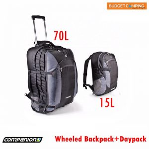 54cddf6b9155c Companion Wheeled Trolley Backpack 70L with 15L Daypack