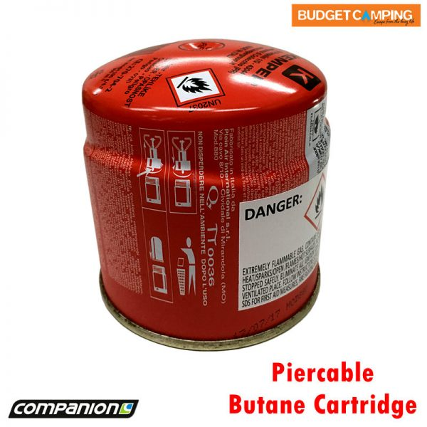 Companion Piercable Butane Cartridge 190g Camping Fuel Canister